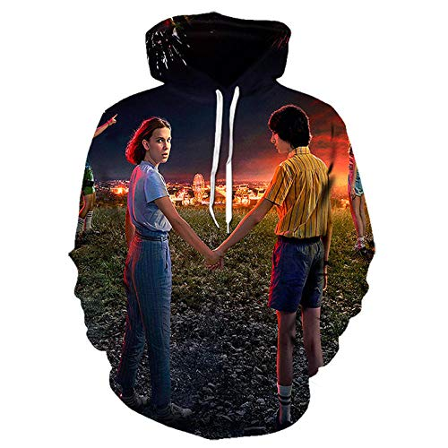 2020 Hombres Sudaderas con Capucha Stranger Things 3 Sudadera Stranger Stranger Things Imprimir Sudaderas con Capucha 3D Tops Casual Anime Hoodie-Lms-1197_Size-XXL