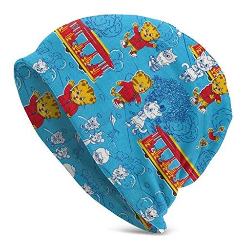 Jonesmall Daniel Tiger's Neighborhood Skull Cap,Beanie Hat Unisex Dual-Sided Skull Knit Hat Warm Winter Hat Light and Breathable Cap,Soft Multifunctional Headwear Hat Black