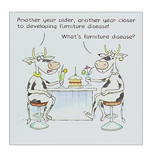 Illustrated Humorous Female Birthday Card from the Funny Farm Range - Furniture Disease - Greeting Card for Her (PL-EFU212)