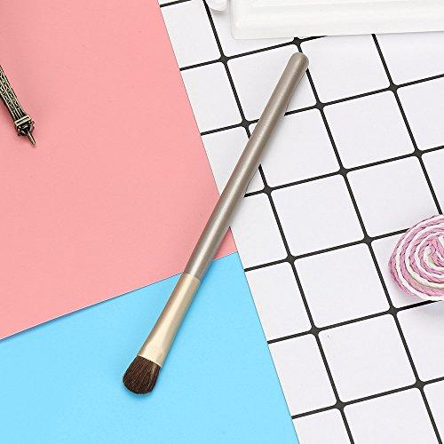 1 STÜCKE Make-Up Pinselset Holz Make-Up Pinsel Lidschatten Pinsel Kosmetik Blending Pinsel Werkzeug Einzelne Champagner Pony Auge Make-up Pinsel