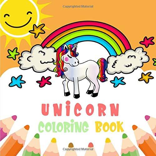 Unicorn Coloring Book: Un livre de coloriage, Edition Animaux pour les tout-petits - Méthode de lecture ludique avec des motifs de coloriage simples - ...   8,5 'x11'   26 Animaux (Français) Broché