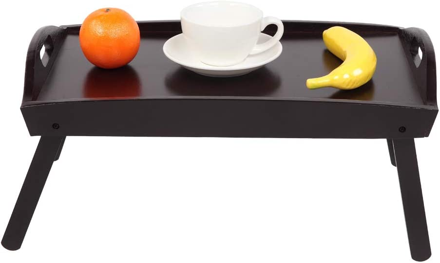 Gelsey Wooden Bed Table Breakfast Serving with Denver Mall Tray Leg Max 58% OFF Folding