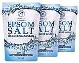 Sali da Bagno 3kg - Sali di Epsom 3000g - 100% Magnesio Naturale - Lenitivo e Allevia i Muscoli - Rilassamento e disintossicante - Cura del corpo - Miglior sonno - Pediluvio Massaggio