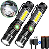 Best LED Flashlights - Rechargeable Flashlight, Magnetic Flashlight(included Battery), Super Bright COB Review