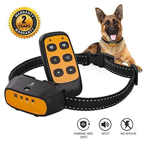 Citronella Spray Bark Collar, Automatic Training Bark Collar Rechargeable Citronella Anti-Bark Collar for Dogs Small Medium Large No Shock Harmless Waterproof