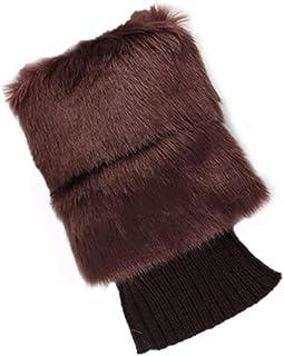 Moda Mujer Invierno Cálido Bota Calcetines Crochet Calcetines Cortos Calentadores de Pierna elástica
