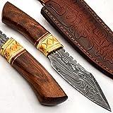 PAL 2000 Cuchillos Damasco – Cuchillo de acero Damasco hecho a mano – Mini cuchillo de camping de acero Damasco de calidad garantizada – Cuchillo de cocina con funda 9720