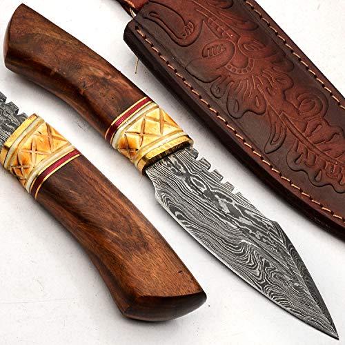 PAL 2000 Cuchillos Damasco – Cuchillo de acero Damasco hecho a mano...