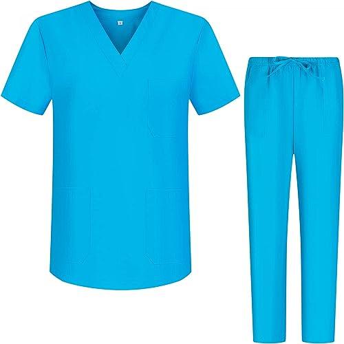 Misemiya - Ensemble Uniformes Unisexe Blouse - Uniforme Médical avec Haut et Pantalon - Ref.8178