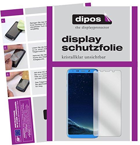 dipos I 2X Schutzfolie klar kompatibel mit Bluboo S8+ Folie Bildschirmschutzfolie