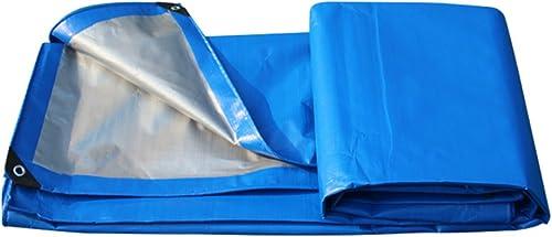 CAOYU Bache Anti-Pluie Camion de Prougeection Solaire Hangar Tissu Jardinage Ombre Haute Température Chaude Anti-vieillisseHommest, Bleu + gris