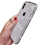 AIJOAIM Cover iPhone 12 PRO per Glitter Bling Scintillante Brillantini Custodia con Bumper in Metallo Antiurto Ultra Sottile di Cristallo,B,iPhone 12 Mini