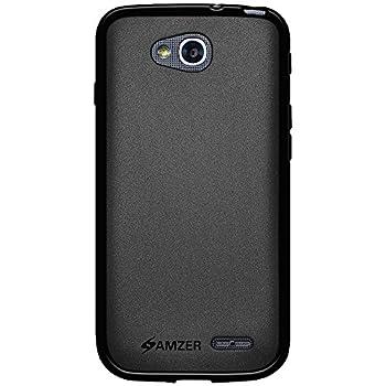 Amzer Pudding Soft Gel TPU Skin Fit Case for LG Optimus L90 D415 - Retail Packaging - Black