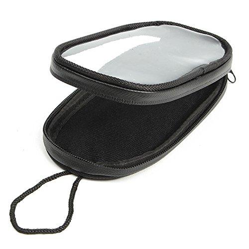 KKmoon Motorrad-Telefon-Navigationssäcke Wasserdichte Motorrad-Handy-Taschen Touchscreen Tankrucksack Schwarz S