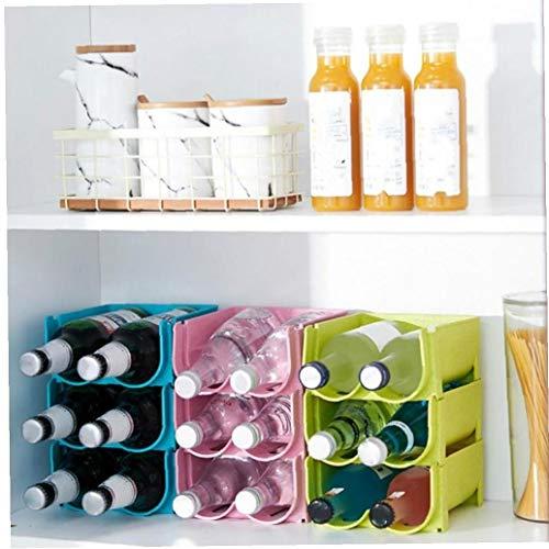 BYFRI Organizador de la Cocina Refrigerador estantes de Lata de Cerveza del Vino del sostenedor de botellero estantes de almacenaje del Organizador Cocina Nevera Organizador