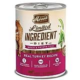 Merrick Limited Ingredient Diet Grain Free Wet Dog Food Real Turkey Recipe - (12) 12.7 oz Cans