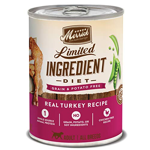 Merrick Limited Ingredient Diet Grain Free Wet Dog Food Real Turkey Recipe - (12) 12.7 oz. Cans