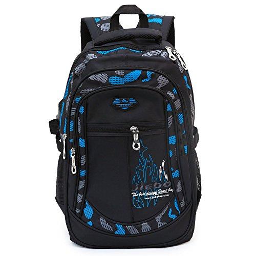 Kinder Schulrucksack für Jungen Schulrucksack Rucksack Jugendliche Schultasche Outdoor Freizeit Daypack (Blau)