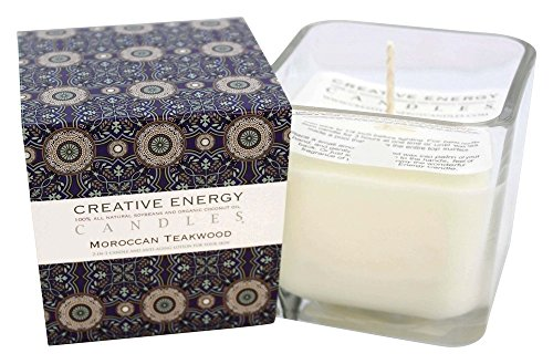 Creative Energy Candle - 2-in-1 Soy Lotion Candle (Moroccan Teakwood)