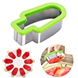 Aremazing Watermelon Slicer Creative Stainless Steel Watermelon Ice Cream Popsicle Shape Melon Cutter Mold Tool (Green)