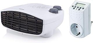 Liegender Tristar calefactor con temporizador, termostato y ventilador, Piso Calefacción
