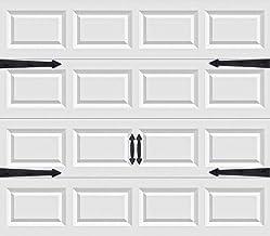 Magnetic Garage Door Handles | Decorative Faux Hinges Hardware Kit | Six Piece Black..