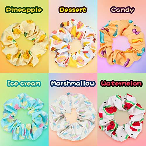 PANTIDE 18Pcs VSCO Scrunchies VSCO Starter Stuff Kit-Cute VSCO Pattern Designed Hair Scrunchies, Colorful Polyester Pongee Ponytail Holder, Elastic Hair Ties Ropes Accessories for Girls 2