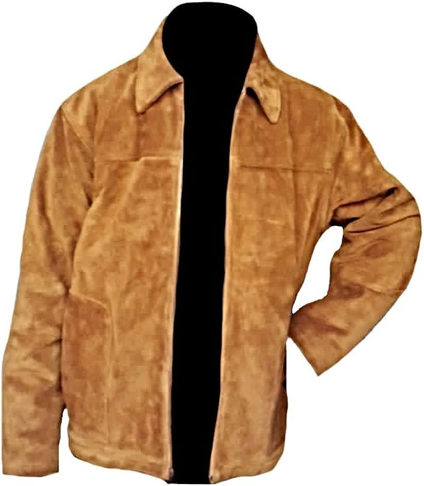 Classyak Men's Fashion Stylish Suede Leather Jacket