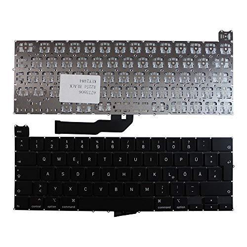 Keyboards4Laptops Alemán versión retroiluminada (sin Placa retroiluminado) Negro Teclado de Repuesto para...