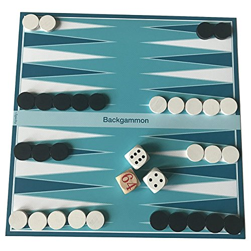 Spieltz 52177: Backgammon Reisespiel. Abwaschbarer Spielplan (LKW-Plane), ideal als Strandspiel oder für den Biergarten. Auf jedem Untergrund spielbar.