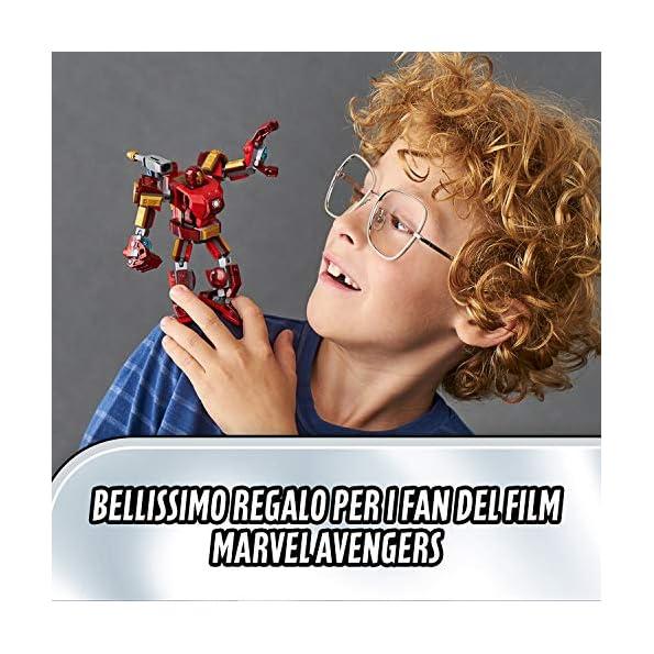 LEGO-Super-Heroes-Avengers-Iron-Man-Mech-Set-di-Costruzioni-Ricco-di-Dettagli-per-Bambini-6-Anni-le-Braccia-e-le-Gambe-Articolate-Consentono-una-Mobilit-a-360-Gradi-76140