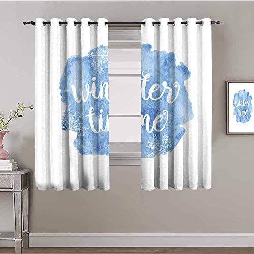 LucaSng Cortinas de Opacas - Azul Creatividad Letras Arte - 280x200 cm para Sala Cuarto Comedor Salon Cocina Habitación - 3D Impresión Digital con Ojales Aislamiento Térmico Cortinas