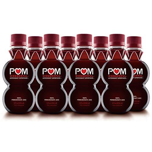 POM Wonderful 100% Pomegranate Juice, 8oz (Pack of 8 Bottles), 8 Fl Oz (Pack of 8)