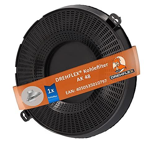 DREHFLEX - AK48 - Aktivkohlefilter für Dunstabzugshaube passend für Electrolux-Gruppe 902979361 und weitere, Maße ca. 237mm …