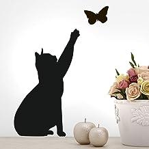Kat Muursticker Vlinder Decal Kunst Behang Keuken Decor Slaapkamer Decoratie Home Muurschildering Transfer Katten transfer...