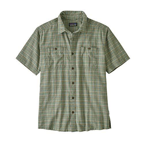 Patagonia M's Back Step Shirt Haut Homme, Vert (Harvester: Ellwood Green), S