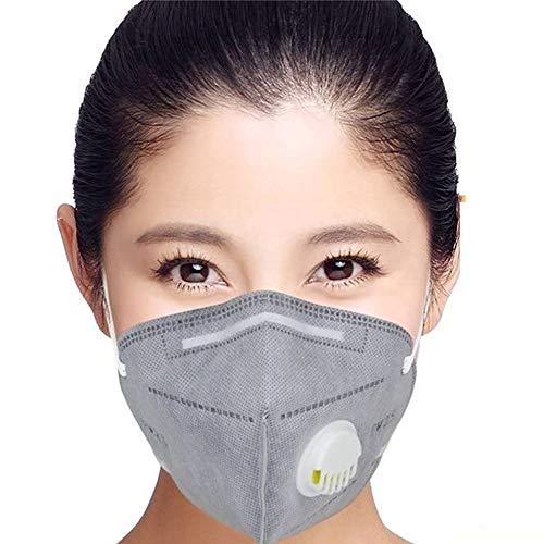 Vansoon 100 STÜCKE N95 mit Ventil FFP2 Maske Staubschutzmaske Falten Schutzmaske Hängen