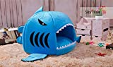 24x7 eMall Shark Pet House with Removable Bed Cushion Mat for Dogs and Cats (Large, 50 x 50 x 48 cm)