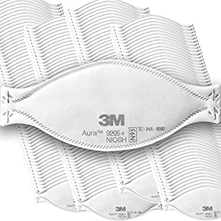 3M Aura Particulate Respirator 9205+, N95, 440/Pack, Disposable, Grinding, Sanding, Sawing, Sweeping, Dust, 3 Panel Flat Fold (B08J1THV9G)   Amazon price tracker / tracking, Amazon price history charts, Amazon price watches, Amazon price drop alerts