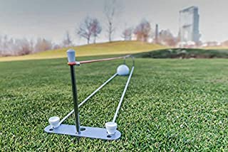Putt Improver Outdoor - Golf Putting Training Aid, improve your short game, Easy Set Up, Instant Feedback, perfect for Kids and Adults - Beginners or Pros
