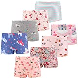 FLYISH DIRECT Mädchen Boxershorts Mädchen Unterwäsche Unterwäsche Baumwollene Boyshort Höschen für Kleine Mädchen 8er Pack,6-7Jahre