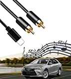 2 RCA Car Aux in Cable, Stereo Y Splitter Adapter Compatible with Toyota Honda Infiniti A3 A4 Ford Dodge Mazda Nissan KIA, 3.75FT