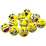 ZYHDFH Pelota Anti Estrés Bolas Bola Anti Estrés Bolas Divertidas de Emoji Squeeze para Alivio de Estrés ADHD & Autismo Squishy Ball Niños y Adultos Fortalece Manos y Dedos 12 Piezas