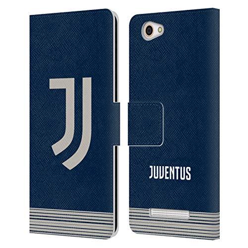 Head Hülle Designs Offizielle Juventus Football Club Away 2020/21 Match Kit Leder Brieftaschen Huelle kompatibel mit Wileyfox Spark X