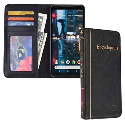 Eco-Fused Cubierta de Libro Compatible con Apple iPhone 8 y iPhone 7 - Estilo Billetera Tarjeta de Crédito y Ranuras - Diseño de enciclopedia de clásica para su Dispositivo Moderno