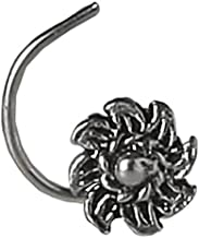 Izaara 92.5 Premium Silver Ethnic Wear Nose Pin For Traditional