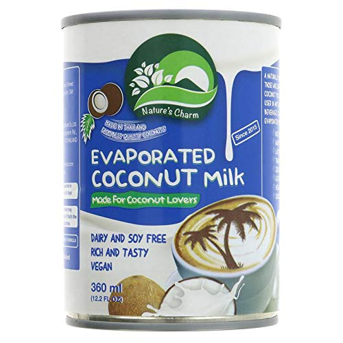 Nature's Charm Leche De Coco Evaporada 360ml | Sin lactosa (Pack de 2)