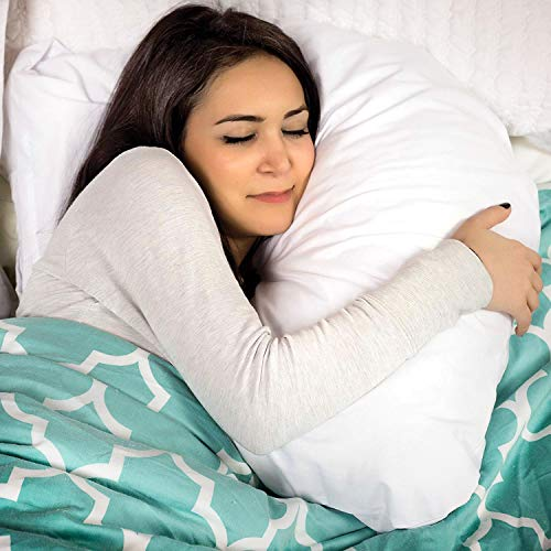 DMI U Shaped Contour Body Pillow Great for Side Sleeping, Neck Pain Cervical Support & Pregnancy Hypoallergenic with Machine Washable Cover , White ,17x22x4 Inch