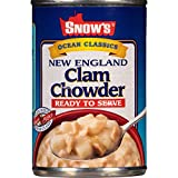 SNOW'S BY BUMBLE BEE Ready to Serve New England Clam Chowder, 15 Ounce Can (Pack of 12), Canned Soup, Stew and Chunky Soup