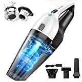 Holife Handheld Vacuum Cordless, Hand Held Vacum Rechargeable Portable Car Vac High Power, Small Mini Light-weight Vaccuum Cleaner (Wall-mount, 3H Quick Charge, 30Min Dry Use) for Pet Hair Carpet Home